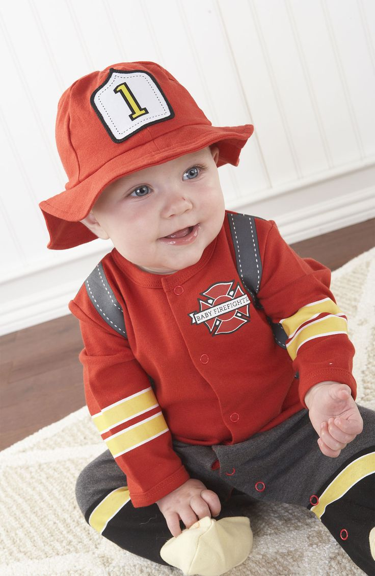 Too Cute Baby Firefighter Footie And Hat Children