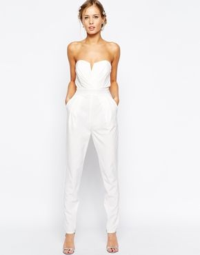 The 25 best ideas about white jumpsuit on pinterest - Jumpsuit hochzeit ...