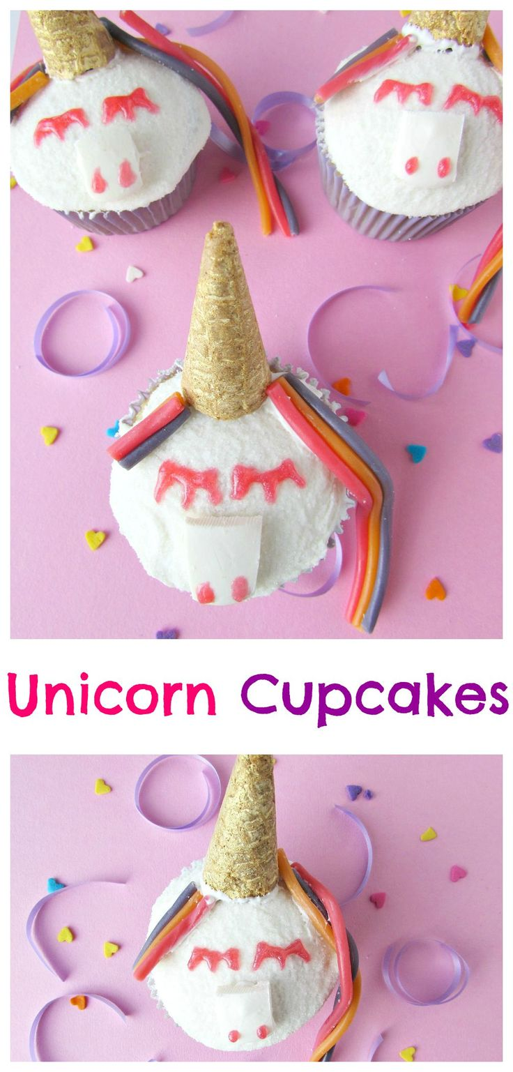 Colorful Unicorn Cupcakes - Val Event Gal