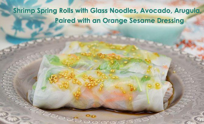 carrot arugula avocado shrimp avocado roll shrimp shrimp spring rolls ...