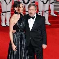 Daisy Ridley and Mark Hamill attend the Star Wars: The Last Jedi European Premiere