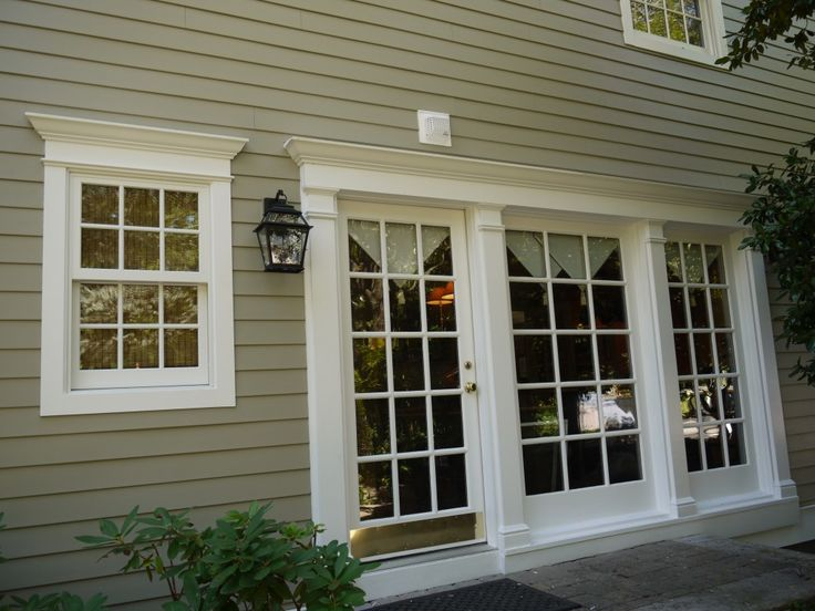 Best 25 azek trim ideas on pinterest outside house paint colors front porch steps and steps for Installing exterior window trim on siding