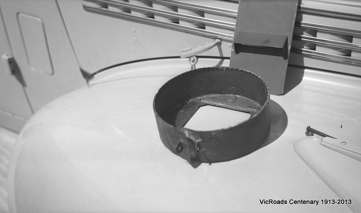 Blackout fixture on headlamp of car : showing turned over rim