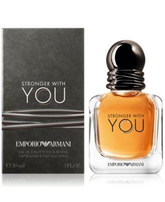 Emporio Armani Stronger With You Eau de Toilette Travel Spray, 1 oz.