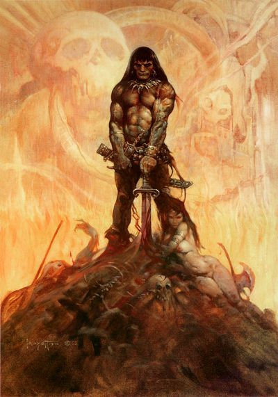 Got to love Frazetta! I'll have to find some more of his work. I actually bought a few of the art books of his a while back, I should pull them out again and have a good browse through with a cup of coffee. Such an inspiring artist, and an incredibly driven guy.