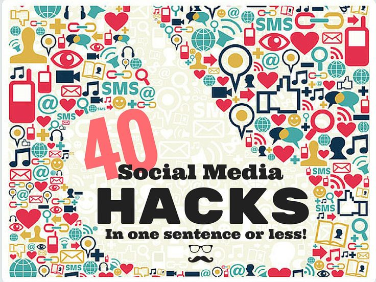 DATA NERDS: The quickest guide to optimizing your social media feeds! Check out our 40 Social Media Hacks in on sentence or less and learn how the pros do it!