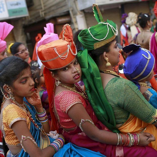 Le celebrazioni per la festa di Gudi Padwa a Mumbai, in India, che segna l'inizio del nuovo anno secondo il calendario indù