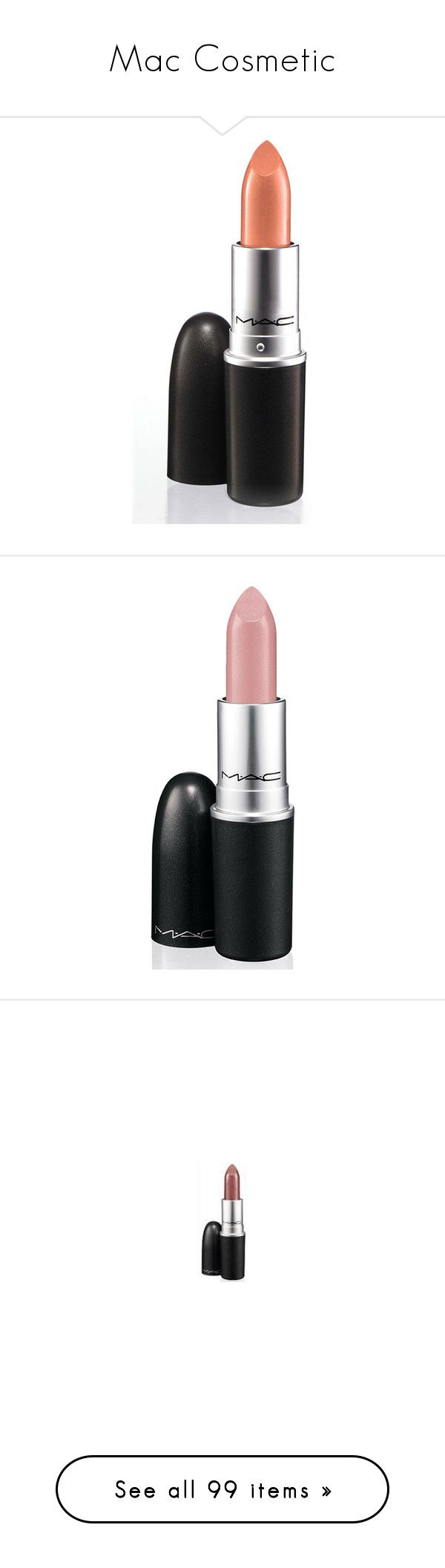 """""""Mac Cosmetic"""" by beautyoftherain ❤ liked on Polyvore featuring beauty products, makeup, lip makeup, lipstick, beauty, cosmetics, lips, women, mac cosmetics lipstick and mac cosmetics"""