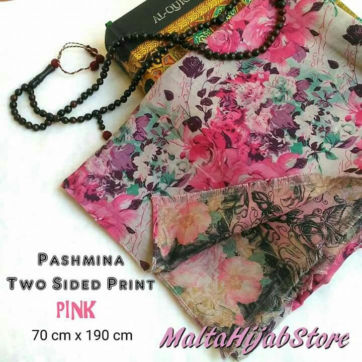 Two sided print-Shawl Material: 100% Viscose Good quality Follow us for more updates @maltahijab_store