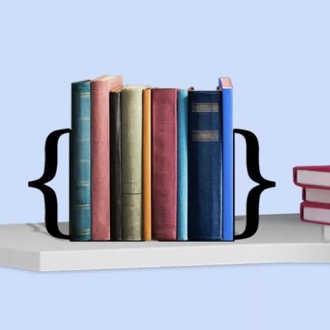 Suporte Aparador De Livros Bibliocanto Cd/dvd Colchetes 3d - R$ 29,90 em Mercado Livre