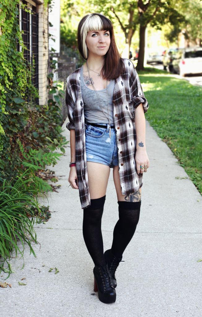 Grunge Outfits With Flannel Grunge Outfits With Flannel 62 Best Images About Knee High