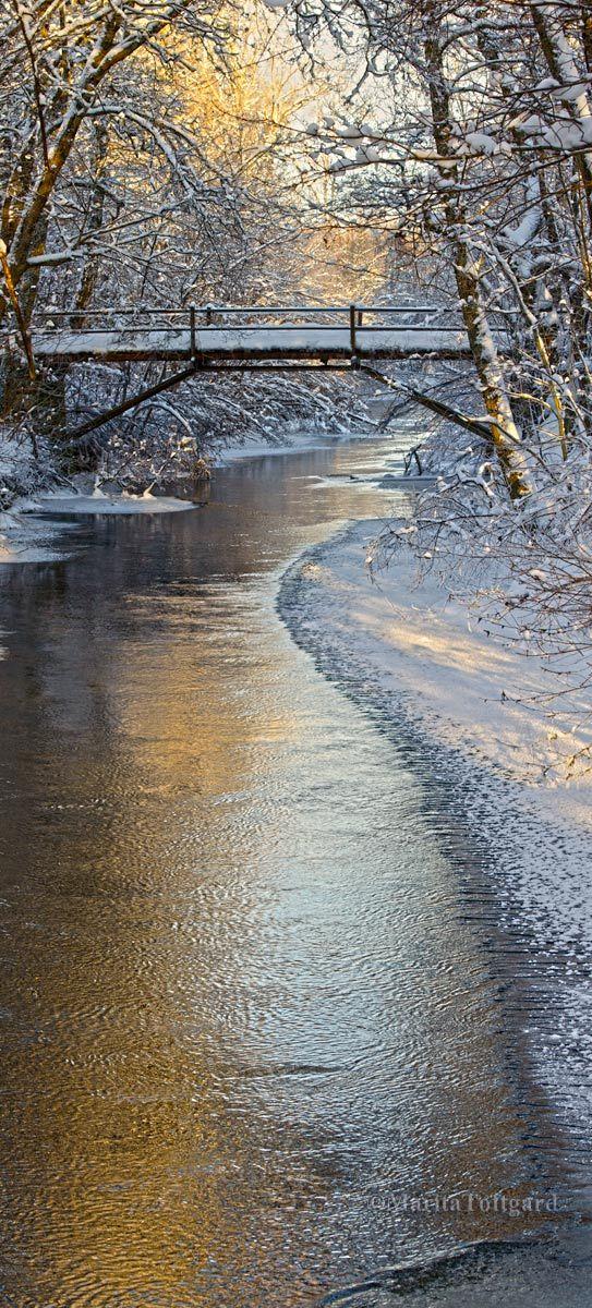 """Romantic bridge in winter, but cold -21C!"" By: Marita Toftgard"