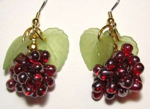 oh my gosh...Grape Earrings. Probably wouldn't wear these, but that's cool!!
