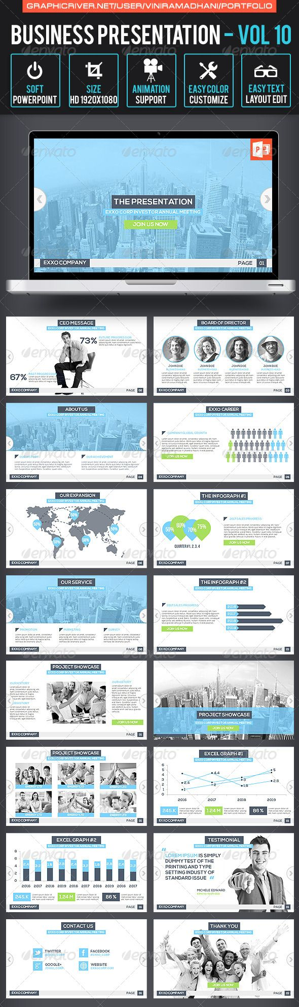 Business Presentation | Volume 10 - Business Powerpoint Templates