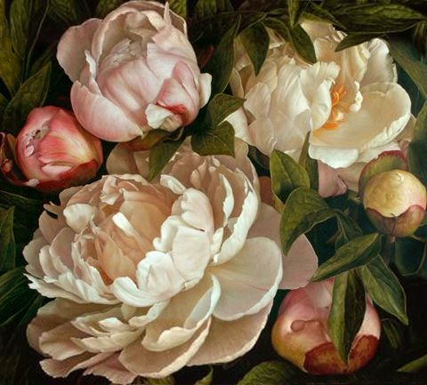 Mia Tarney, title unknown,  Oil on Linen | Mia Tarney [British painter, born 1973] This is a copyright work for educational purposes only.