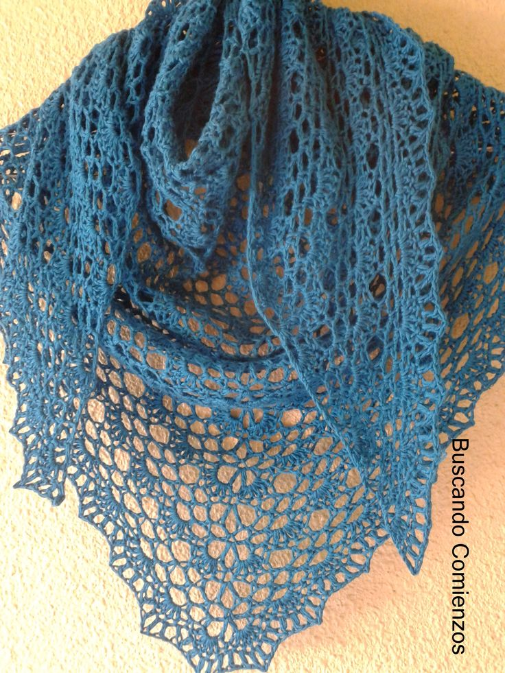 Lacy Triangle Shawl: free crochet pattern