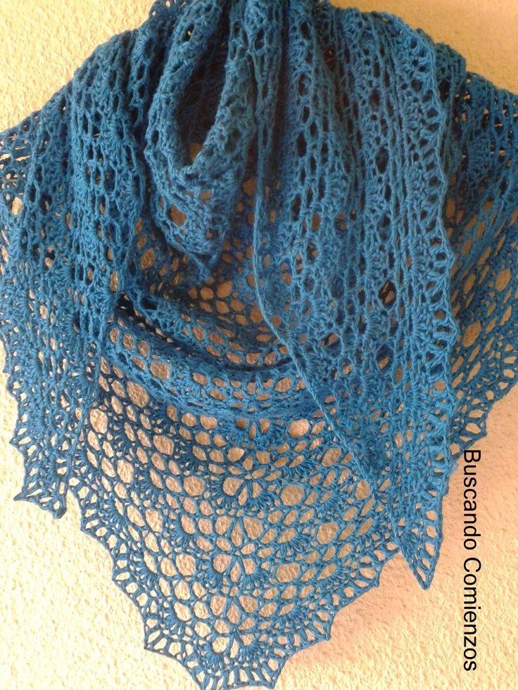 Lacy Triangle Shawl: free crochet pattern