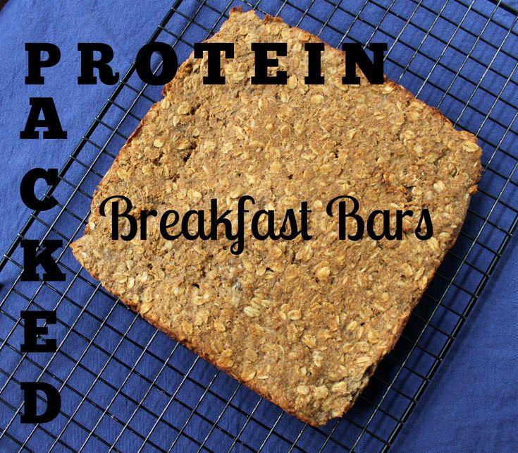 Grab & Go Breakfast Bars (gluten free, high protein)