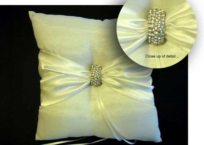 Ring Bearer Pillow with Diamante Clasp