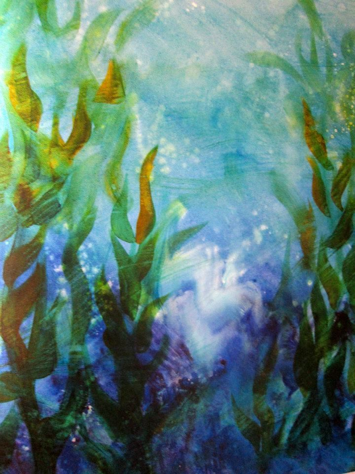 underwater painting seaweed - 720×960