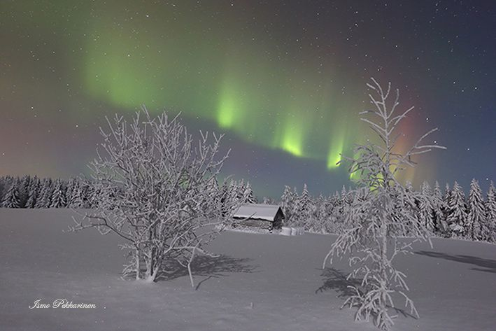 Revontulet Joensuu Heinävaara tammikuu,Northern Lights Joensuu Heinävaara Finland january.Photo Ismo Pekkarinen. #finland #luonto #aurora borealis #talvi #maisema #nature #northernlights #winter #landscape #joensuu
