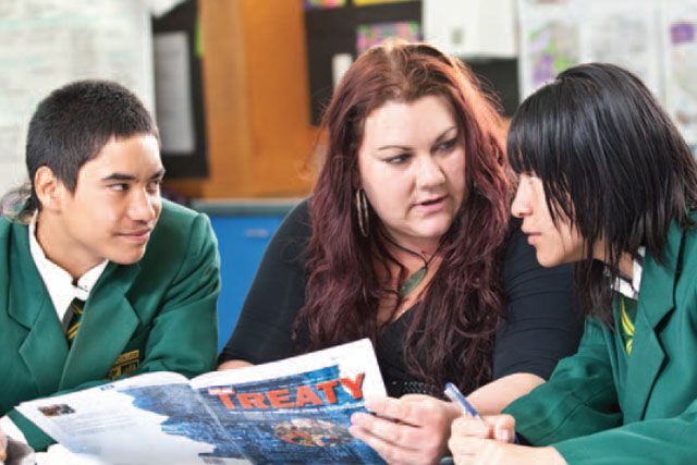 This Update focuses on The New Zealand Curriculum principle of the Treaty of Waitangi and its implications for teaching, learning, and the school curriculum.Teacher and students.
