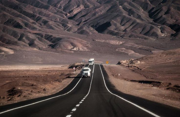The Pan-American HIghway as it travels through the Atacama Desert. Image by Igor Alecsander / Moment / Getty Images