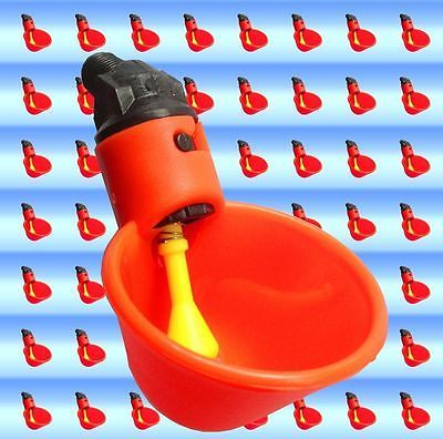 5 Chicken Drinker Cups automatic float poultry waterer drink cup coop system USA - Go Shop Pet Supplies
