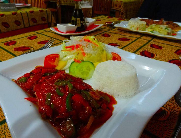 Pescado en salsa picante indonesio... siempre es un placer comer en el Bali Meloneras