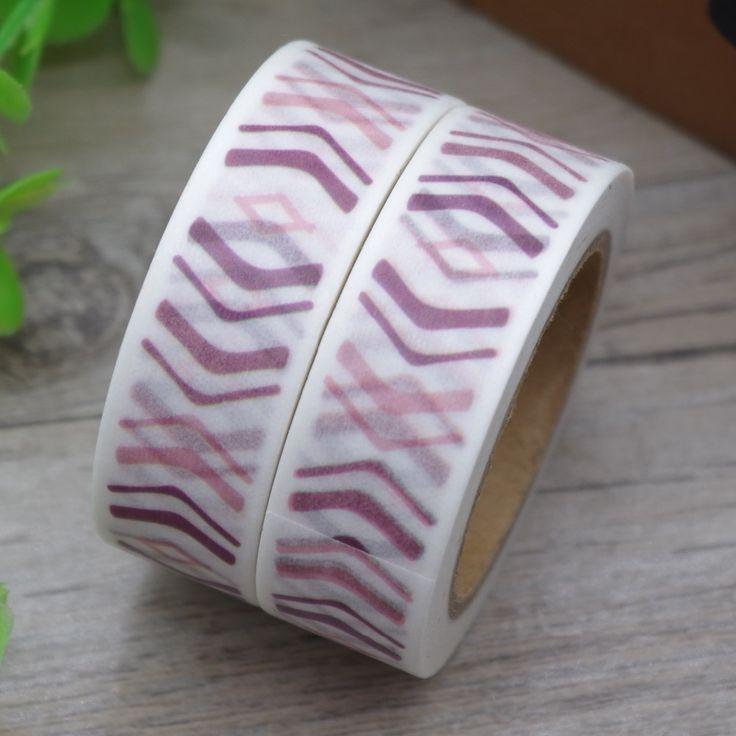 2017 New 1x Chevron Tape Decorative Masking Adhesive School Supplies Stationery Ruban Adhesif Cinta Adhesiva Masking Tape 10M
