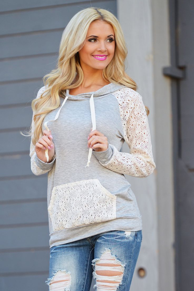 Down To Earth Hoodie - Heather Grey from Closet Candy Boutique