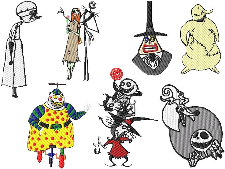 Nightmare Before Christmas Embroidery Design set #2: Design Sets - 005 - Kewl Stitches: Embroidery Design, Design Set