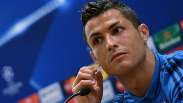 Real Madrid forward Cristiano Ronaldo walked out of a news conference on Tuesday after being questioned about his record in away matches this season.