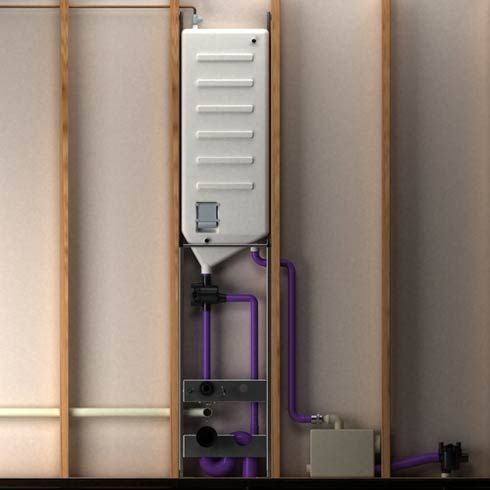 Recycling shower water to flush toilets is an ingenious way to save water, & money.  Why not? Risingbarn.com #smart #toilet #system #save #water #money #smart #home #interior #bathroom #sustainable #green #save #ecofriendly