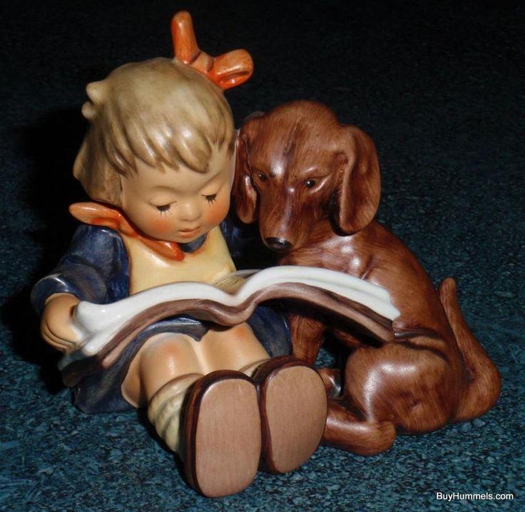 """Proud Moments"" Goebel Hummel Figurine #800 TMK8 Girl With Dachshund Puppy Dog"