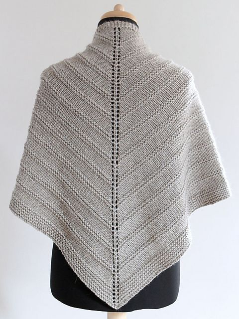 Free Pattern: Skoosh by Amanda Clark. A triangular shaped shawl, worked in one piece, from the top down.