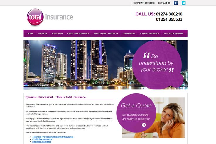 Total Insurance - a website that specialises in professional indemnity insurance for solicitors. http://totalinsurance.uk.com #design #development #seo