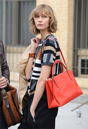 Here's Karlie Kloss on the Set of an Upcoming Campaign for Coach Handbags