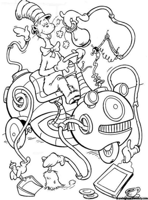 Cat In The Hat Coloring Page Dr Seuss Coloring Sheet, Dr Seuss Coloring  Pages, Dr Seuss Printables