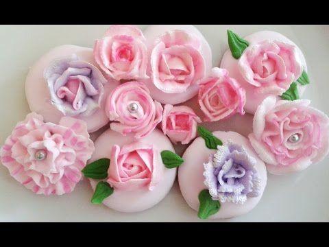 Как сделать Розы из Айсинга (Королевская глазурь / Белковая глазурь / Royal Icing) - YouTube