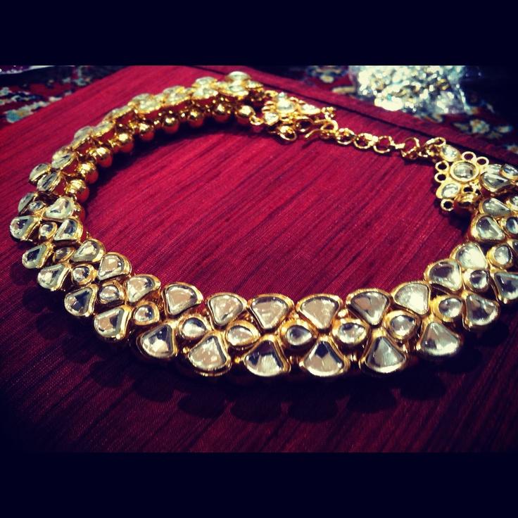 Heavy kundan necklace .... By Almari
