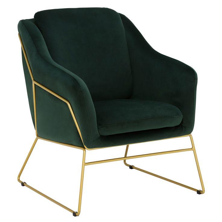 Draper green velvet chair gold legs barker stonehouse