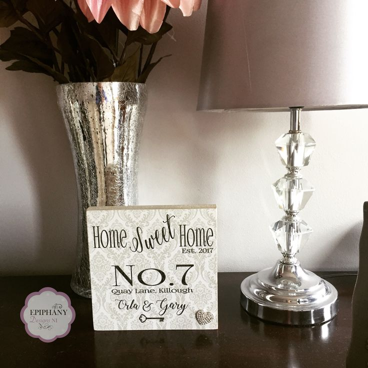 Bespoke New home gift personalised with house number and address By Epiphany Designs NI