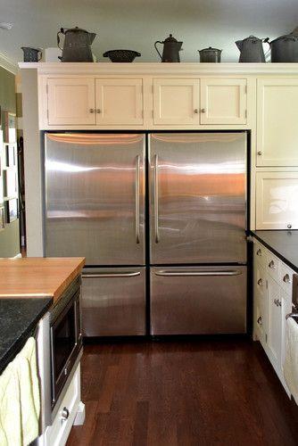 Love How The Two Fridges Look Like One Commercial Fridge Kitchen Pinterest Commercial
