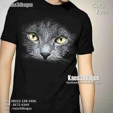 Kaos 3D KUCING Cat Eyes - Kaos Mata Kucing, Kaos Kucing Hitam 3D, Kaos 3D Umakuka, Kaos 3D Bagus, http://instagram.com/kaos3dbagus, WA : 08222 128 3456, BBM : 5E72 A3A9, LINE : KAOS3DBAGUS