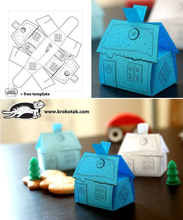 A house-box for small sweets and gifts