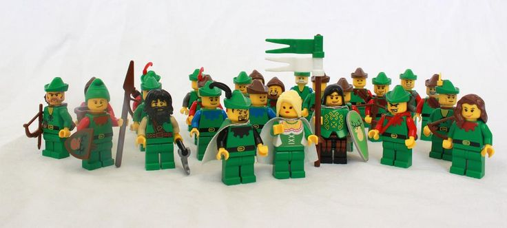 An army of LEGO Forestmen. Robin Hood and His Merry Men - check out Little John and Will Scarlet!