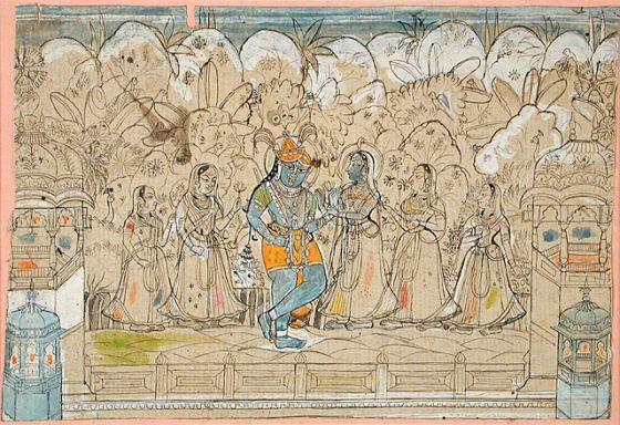 Krishna with Radha and the Gopis of Braj | LACMA Collections