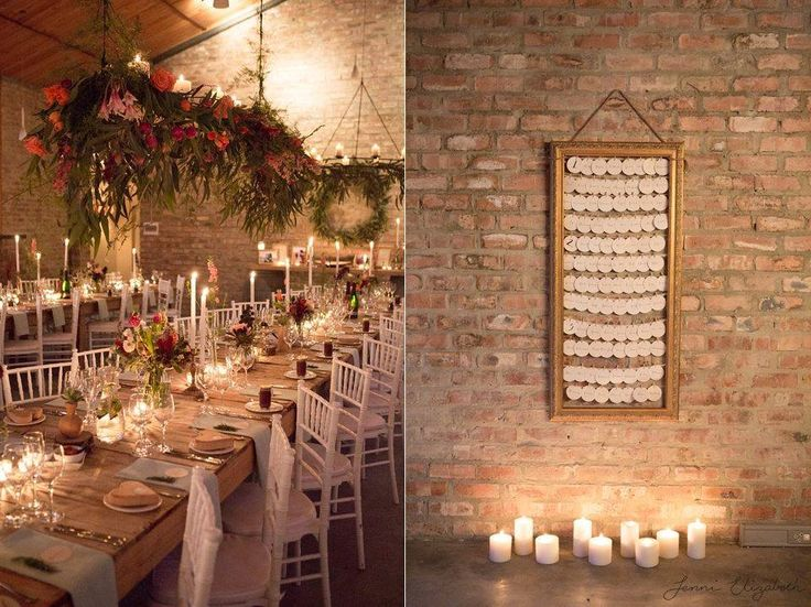 Beautiful example of a classic meets modern Western Cape wedding. Amazing use of raw textures with local fynbos flowers blended with Victorian style unfurnished long tables and rounded off with the elegance of stylish cutlery and candle holders!