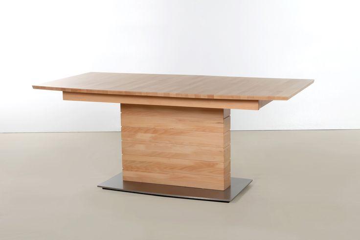 Esstisch / Säulentisch 160 X 90 Ausziehbar Kernbuche Massiv Lackiert Woody 114-00143 modern Jetzt bestellen unter: https://moebel.ladendirekt.de/kueche-und-esszimmer/tische/esstische/?uid=c49eac40-4c58-55a2-8150-e067e718a6ef&utm_source=pinterest&utm_medium=pin&utm_campaign=boards #kueche #esstische #esszimmer #tische